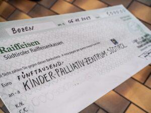 Lions Club Bozen Bolzano Rosengarten Spendenaktion Kinder-Palliativzentrum-Südtirol
